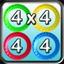 4 x 4 in 44